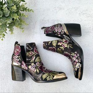 Jeffrey Campbell | Floral Brocade Boots